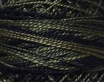 Size 12, O540, Valdani Perle Cotton, Black Olives