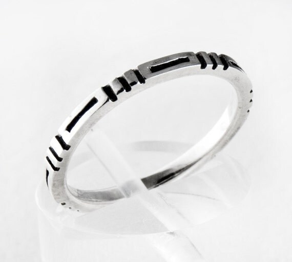 clean lines sterling silver ring