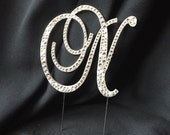 SPECIAL!! Letter N swarovski crystals and pearls