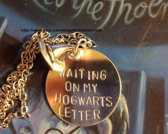 Waiting on my Hogwarts Letter HP necklace