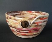 Peaches and Cream, coiled fabric basket