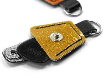 Sparkle Pick holder Keychain - Orange or Gold