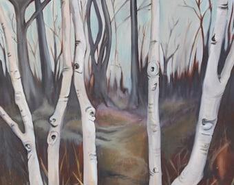 Birch Tree Hike - Print
