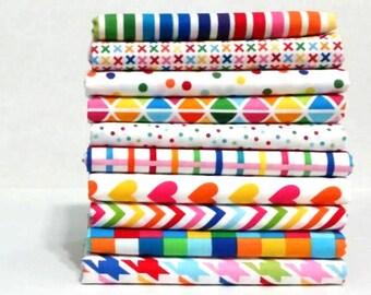 Remix Rainbow Fat Quarter Bundle - Robert Kaufman Fabrics