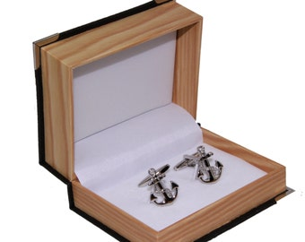 Men's Anchors Cufflinks and Gift Box Cuff Links