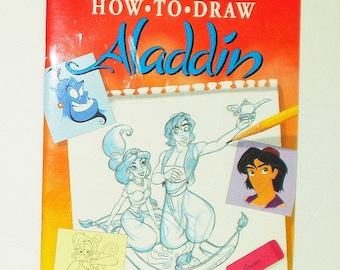Walter Foster Aladdin  Animation Book Learn to Draw Disney How To DIY Art Book Instructional Book