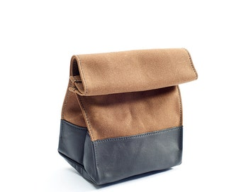 The Lunch Bag: Brown & Black