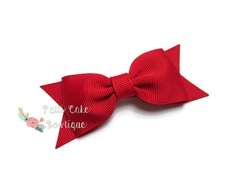 Red Hair Bow Clip, Red Bow, School Uniform Color Hair Bow, Red Hair Clip, Christmas Hair Bow, Girl Hair Bow, Toddler Hair Bow, Baby Bows, 41