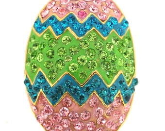 Erinite Easter Egg Crystal Pin Brooch 1004511