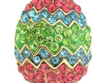 Multicolor Easter Egg Brooch 1005122