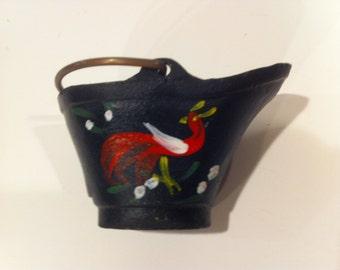 Vintage Cast Iron Miniature Coal Bucket