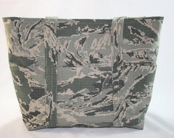 ABU Air Force Tote Bag Military Digital Tiger Stripe Camo