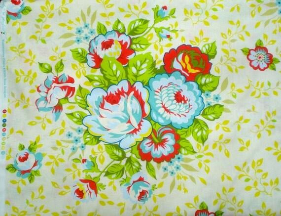 Rose Bouquet yellow Heather Bailey Pop Garden Free Spirit Fabrics BTY