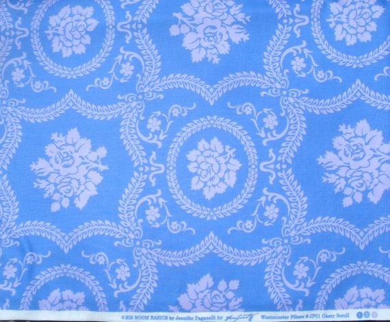 SALE : Casey Scroll periwinkle Jennifer Paganelli Sis Boom Basics Free Spirit fabric FQ or more