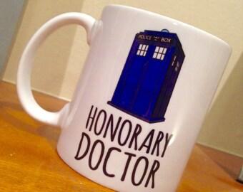 Honorary Doctor Who TARDIS Ceramic Mug