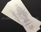 50 Bookmark Favors for Wedding, Anniversary, Church, English or Spanish