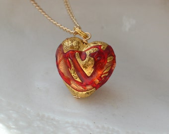 Heart Necklace - Venetian Murano Glass