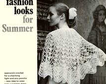 Vintage Festival Wedding Poncho Vintage Crochet Pattern PDF 801 from WonkyZebra