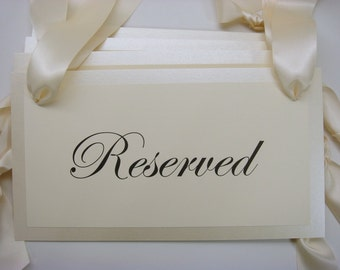 Wedding Reserved Pew Signs for your Family or Special Guest Seating During Your Wedding Ceremony