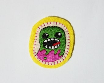 Hand Embroidered Patch Monster Cute Creature