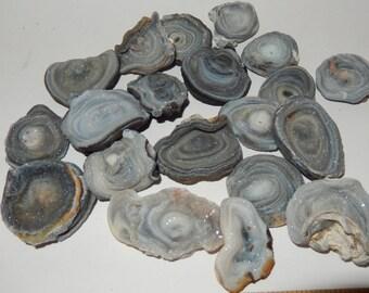 Chalcedony Rose with druzy quartz