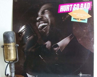 "ON SALE 1960s Soul Music Various Artists Vinyl Record Album LP Vintage 1960s Soul Rhythm And Blues Pop ""Hurt So Bad"" (Scarce Promo -1985 Cap"