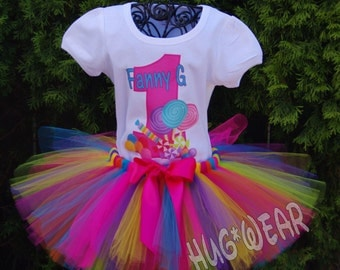 Candyland Birthday Shirt + Tutu Outfit  Candy Land Sweets  (Any age)