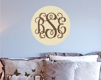 Custom  Monogram  Reusable fabric decal,  Removable, reusable and repositionable fabric decal