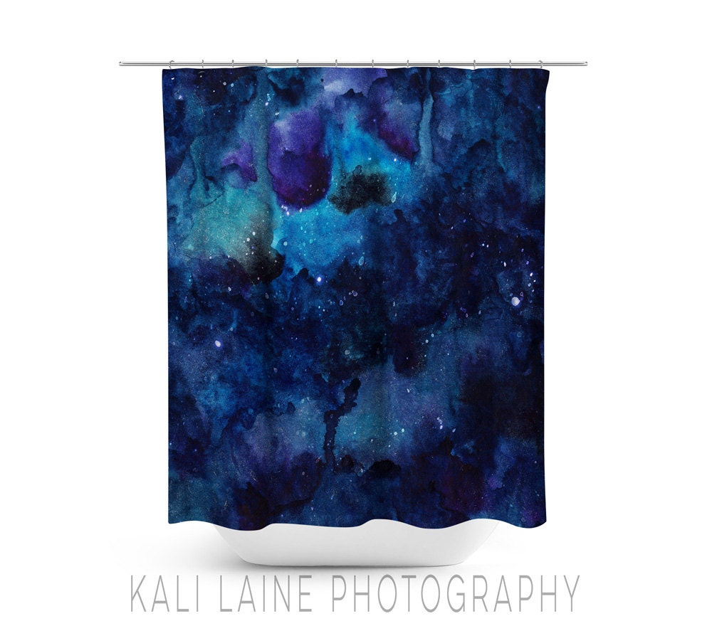 abstract watercolor blue shower curtain abstract texture