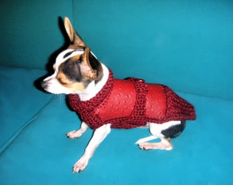 Red coat for Chihuahua or small dogs Red sweater Chihuahua autumn winter Fashion for chihuahua Gifts for pets Chihuahua clothing