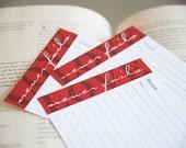 Love Never Fails Recipe Cards