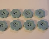 Turquoise Flower Buttons