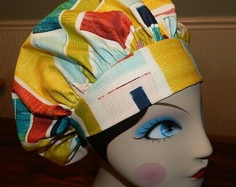 Brush Strokes  Banded Bouffant Surgical Cap