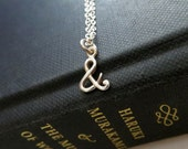 Ampersand necklace, 925 sterling silver ampersand sign charm