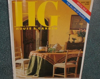 """July 1989 HG House & Garden Magazine Special Issue """"The Allure Of France""""  FREE SHIPPING!!!"""