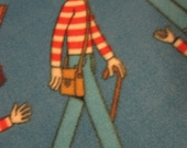 Where's Waldo on Blue with Red Blanket - Ready to Ship Now