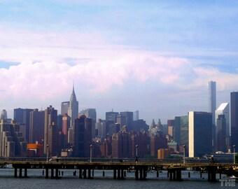 New York City Skyline, Chrysler Building Photography Print, NYC Wall Art, Brooklyn Photo