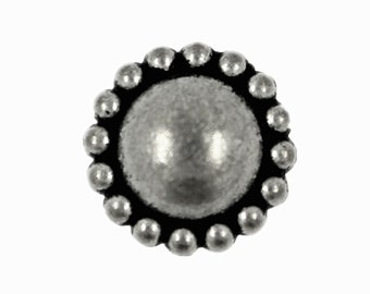 Beads Domed Retro Silver Metal Rivet Sets - 0.36 inch - 4 pieces