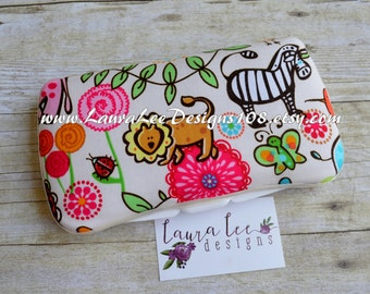 READY TO SHIP Wild Safari Boutique Style Travel Baby Wipe Case, Diaper Wipes Case, Personalized Case, Diaper Wipe Case, Baby Shower Gift