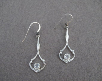 Silver Dangle Earrings on Sterling Silver Earwires