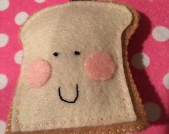 Happy Slice of Bread/Toast Keychain