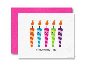 Birthday Card / Happy Birthday To You / Birthday Candles