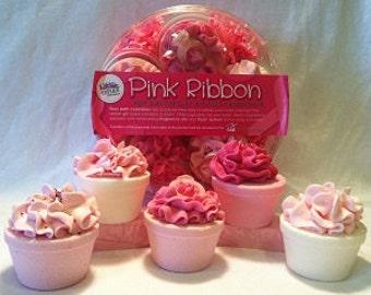 Pink Ribbon Cupcake Gift Pack