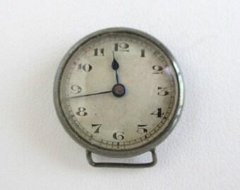 Sterling Silver Antique 15J Swiss Watch - AS IS