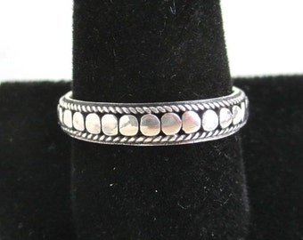 925 Sterling Silver Mens Band Ring - Size 11 1/4