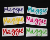 Vinyl Name Labels - Multi Color - Set of Six