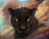 Spirit Walker black panther Universe Nebula 8x10 fine art print