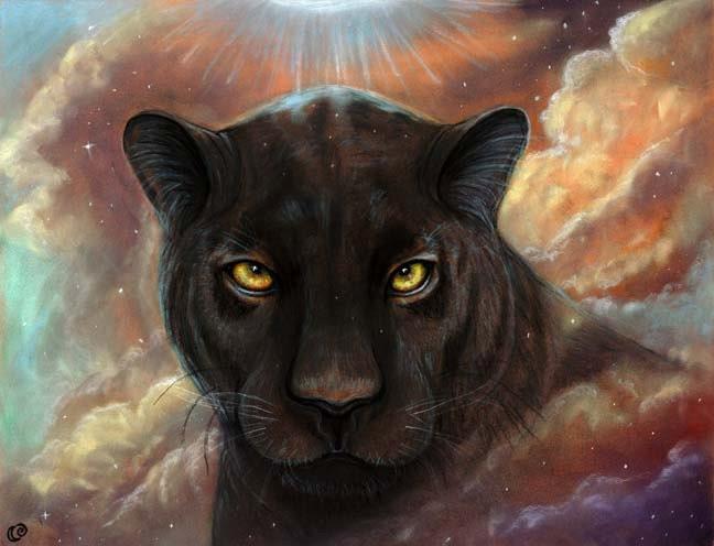 Spirit Walker Black Panther Universe Nebula 8x10 Fine Art
