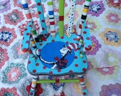 Dr Seuss Rocking Chair The Cat in the Hat Green Eggs and Ham Child's Rocker Kids Rocker Dr Seuss Theme Kids Furniture Green Eggs and Ham