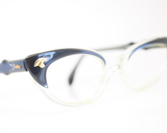 Blue vintage cat eye glasses cat eye frames New Old Stock